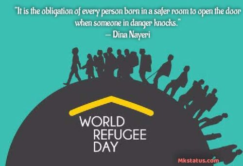 World Refugee Day 2020 Quotes images