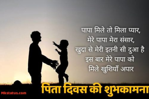 Best New Popular Quotes in Hindi About Father Day