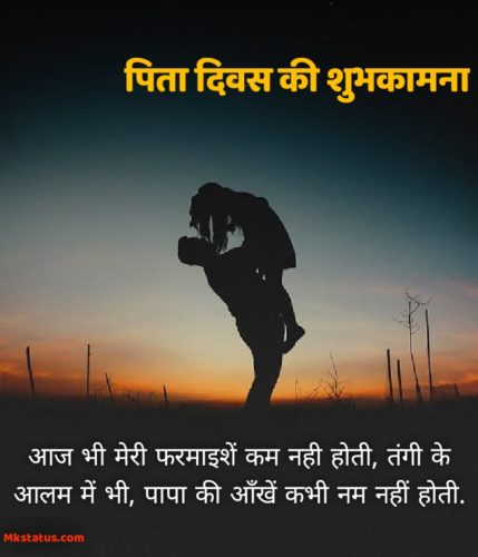 Happy Father Day Quotes Images in Hindi