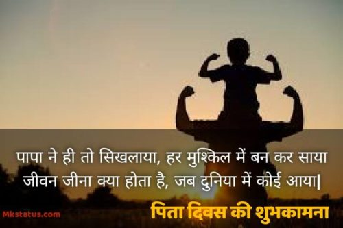 Happy Father Day Quotes in Hindi