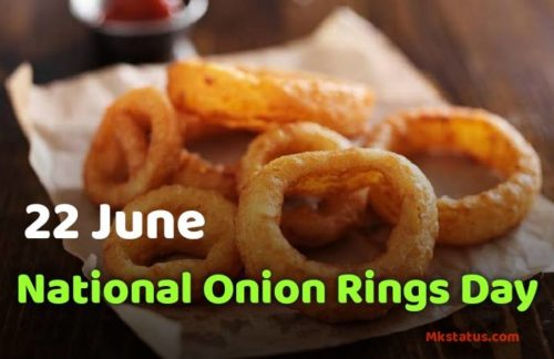22 June National Onion Rings Day images