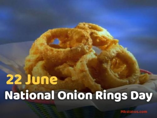 22 June National Onion Rings Day images for status