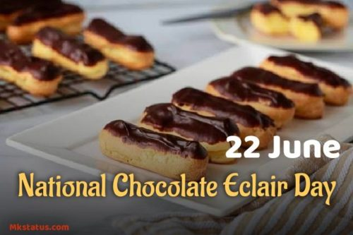 Chocolate Éclair Day wishes images