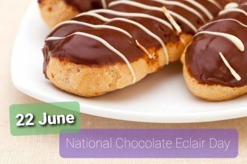 Happy National Chocolate Eclair Day wishes photo