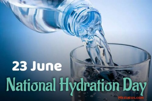 National Hydration Day wishes images for status