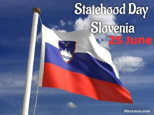Statehood Day Slovenia wishes images for whatsapp and face book status