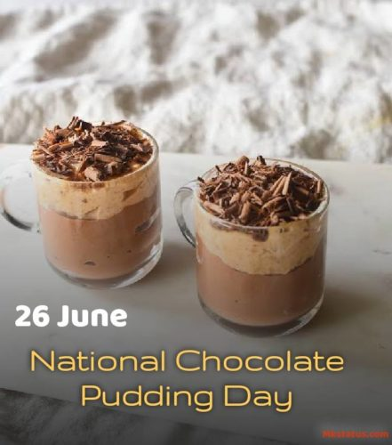 Happy Chocolate Pudding Day 2020 wishes images for status