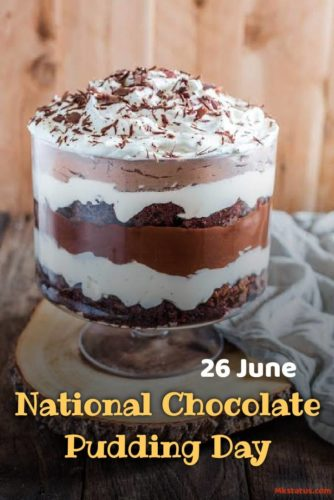 26 June National Chocolate Pudding Day 2020 wishes images