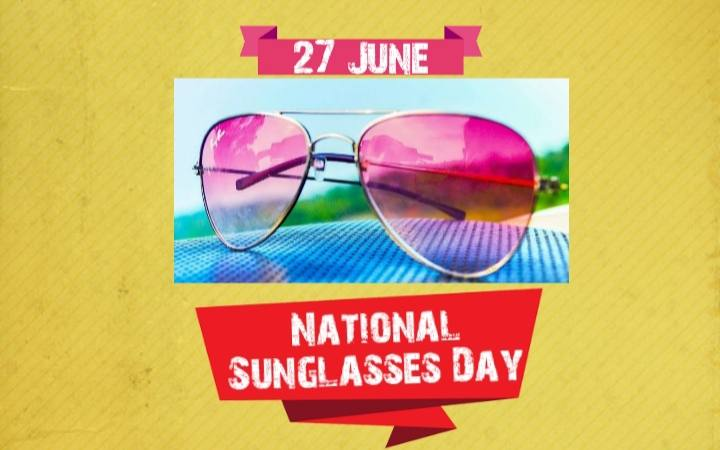 27 June National Sunglasses Day 2020 Poster
