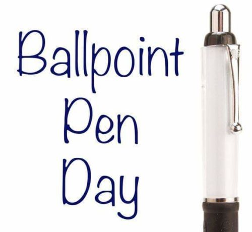 National Ballpoint Pen Day 2020 Status Pictures