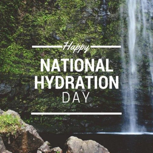 Happy National Hydration Day wishes images