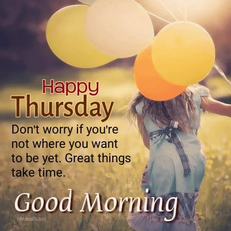 Good Morning Thursday Pictures with Quotes