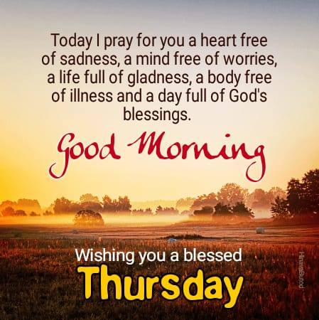 Good Morning Thursday blessing messages images