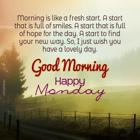 Good Morning Monday Quotes with Nature Background images