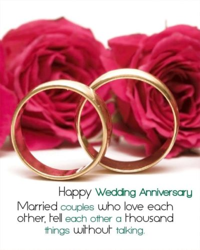 Happy Marriage anniversary wishes in English for Face Book status