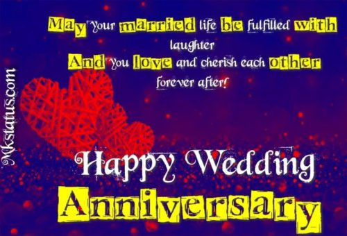 marriage anniversary wishes in English for whatsapp status