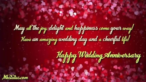 Happy Wedding anniversary greeting images