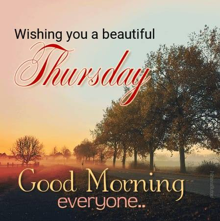 Happy Thursday Good Morning Wishes images