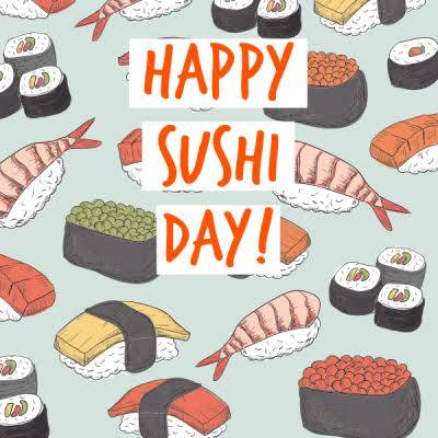 Happy Sushi Day Greeting photos