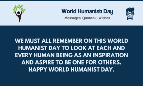 World Humanist Day greeting Quotes images