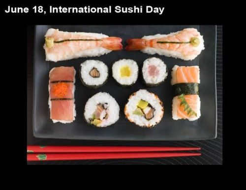 Happy International Sushi Day Greeting photos