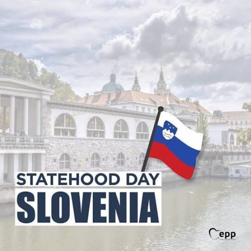 Happy Statehood Day Slovenia Greeting images