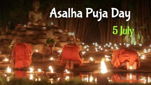 Asalha Puja Day 2020 greeting images