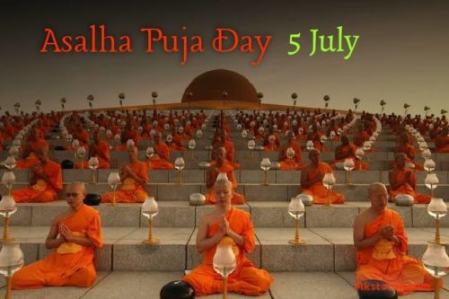 Happy Asalha Puja Day 2020 greeting images
