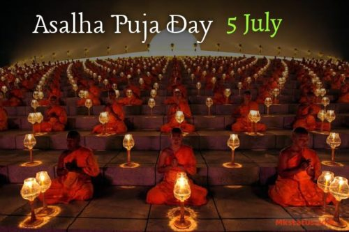 Asalha Puja Day 2020 greeting images for status