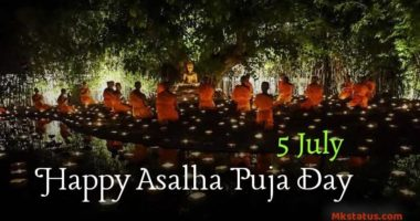 5 July   Asalha Puja Day 2020 greeting images