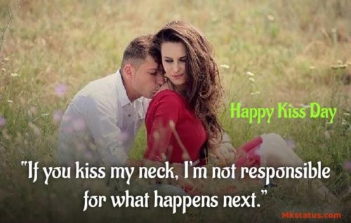 Happy Kiss Day Quote images