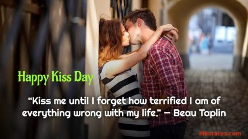 World Kiss Day wishes Quotes images
