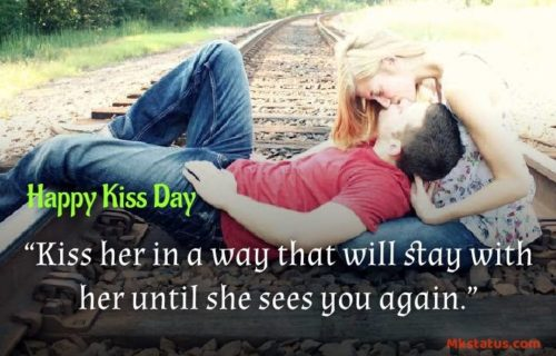 World Kiss Day wishes Quotes images for status