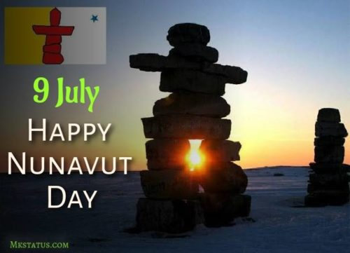 9 July Happy Nunavut Day wishes images