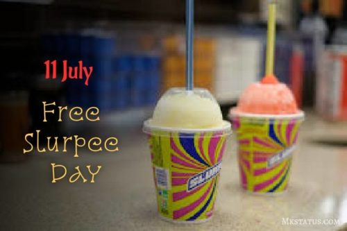 Free Slurpee Day greeting photos 11 July