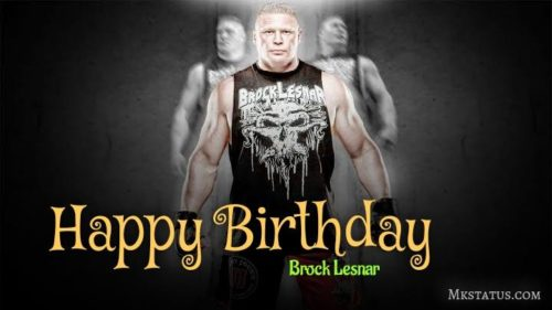 Brock Lesnar Birthday Wishes Images