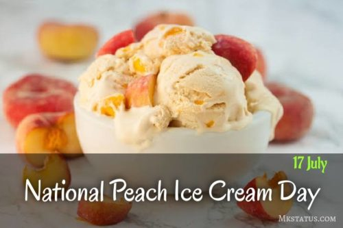 National Peach Ice Cream Day 2020 greeting images