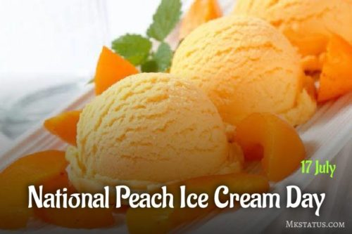 Happy National Peach Ice Cream Day 2020 greeting images for status