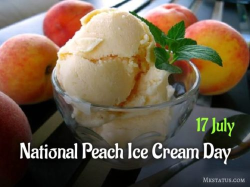 National Peach Ice Cream Day 2020 wishes images
