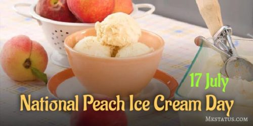 Happy National Peach Ice Cream Day wishes images