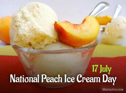 National Peach Ice Cream Day wishes images