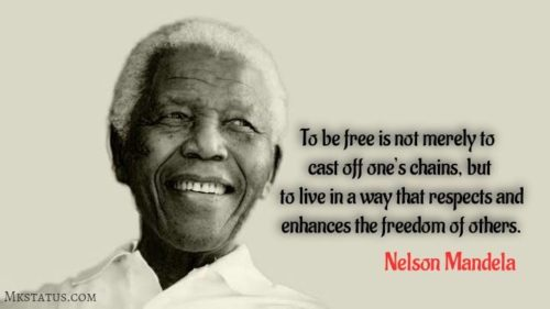 Nelson Mandela quotes in English images for status