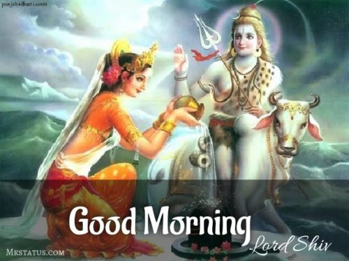 Happy Good Morning Monday Lord Shiv Parvati images