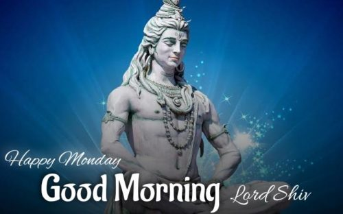 Happy Good Morning Monday Lord Shiv images