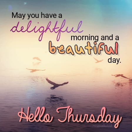 Happy Morning Thursday Quotes Images for status