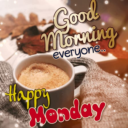 Good Morning Monday Tea & Coffee greeting images