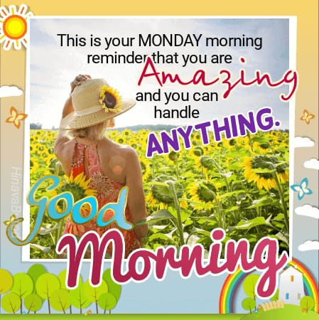 Happy Good Morning Monday Status images with Quotes & messages