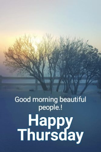 Happy Thursday Morning greeting photos with quotes