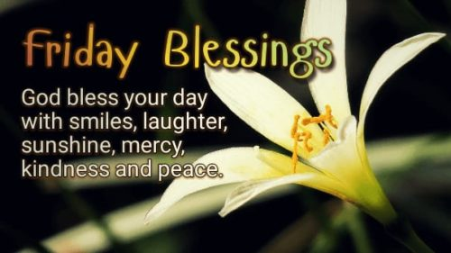 Blessing Quotes wishing Good Morning Friday
