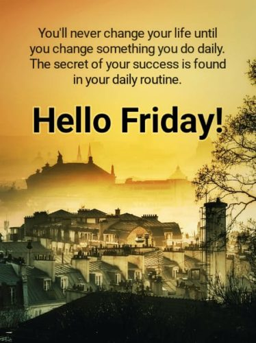 Good Morning Friday wishes photos with quotes